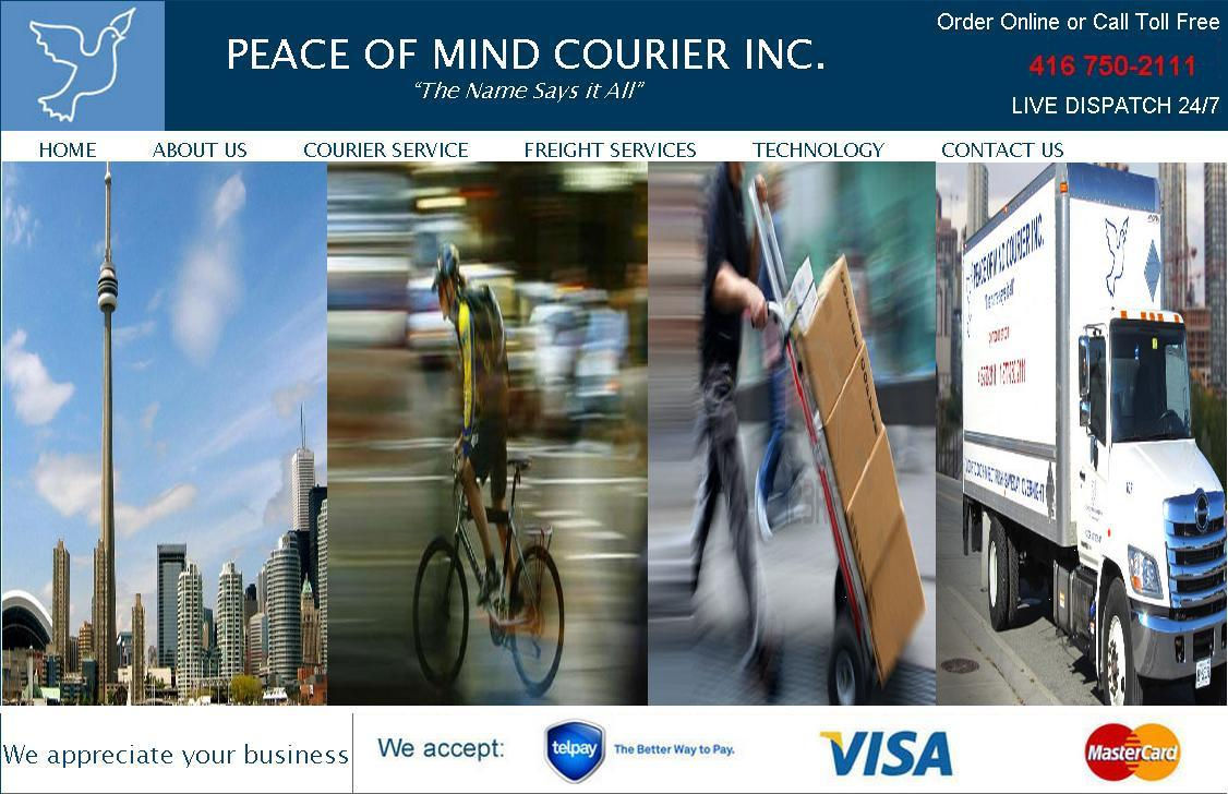Peace of Mind Courier Inc. Logo